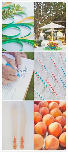 LOVE this idea of the paper centerpieces!