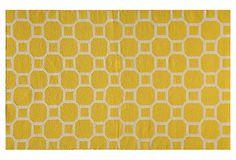 Bubble Flat-Weave Rug, Lemon on OneKingsLane.com