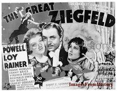8x10 Film Negative Myrna Loy Great Ziefeld 1936 Poster #1c325