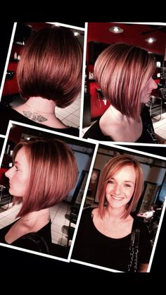 Graduated bob hairstyles are perfect for every woman and they are a definitely gorgeous idea for ladies who want to get a new style by changing their haircut. Graduated Long Bob Cut Graduated bob hairstyles would look really nice… Continue Reading → Graduated Bob Hairstyles, Bob Hairstyles For Fine Hair, Cool Hairstyles, Melena Bob, Asymmetrical Bob Haircuts, Haircut Pictures, Bobs For Thin Hair, Bob Haircut With Bangs, Bob Haircuts For Women