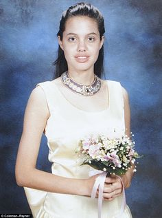 Angelina Jolie at her 8th grade graduation: hang this in your classroom to show your students that they all have lots of growing left to do.