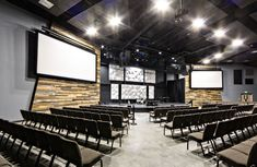 BGW Services worked with Believers Church for a SF building that is a church as well as a children's ministry. Contact our church builders at Church Lobby, Church Foyer, Church Office, Church Interior Design, Church Stage Design, Auditorium Design, Modern Church, Church Building, Church Architecture