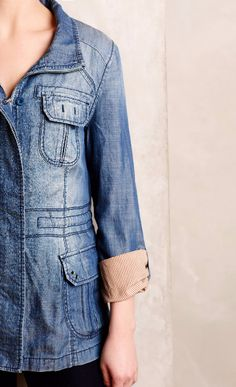 Chambray Anorak | I think I can pull this off