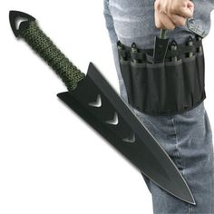Throwing Knife 6 Piece Set with Leg Sheath Black - BRAND NEW! | Sporting Goods, Hunting, Knives & Tools | eBay!