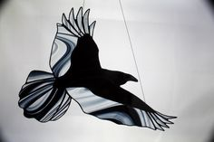 Stained Glass Raven Stained Glass Bird Raven Art by BerlinGlass