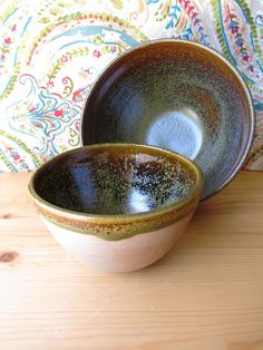 Pottery bowls set of nesting bowls small woodfired by Haberpots