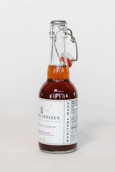 Peppercorn Plum Shrub – Pineridge Hollow Aromatic Bitters, Lemon Lime, Simple Syrup, Hot Sauce Bottles, Grapefruit, Shrubs, Whiskey Bottle, Plum, Spices