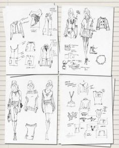 Ideas for making a fashion sketchbook :-)