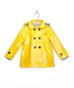 Yellow Raincoat - Toddler & Girls by Amore di Mamma on #zulilyUK today!