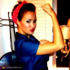 Rosie The Riveter - Homemade costumes for women @Colleen Sweeney Merchant You could do this with your denim dress.