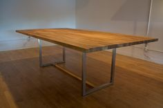ikea countertop + legs would make a great kitchen island / work table.
