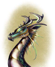 Dragon Portrait by LoriStebbins on deviantART