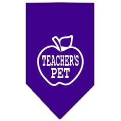 Teachers Pet Screen Print Bandana Purple Small