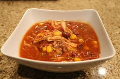 Slow-Cooker Chicken Tortilla Soup - I'd use Wahoo Chili for the chili powder!