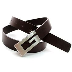 (JPB006-DARKBROWN) Casual Leather Belt from W28 to W35