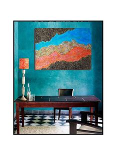 Original Abstract Textured Mixed Media Acrylic Painting by yvonsmi