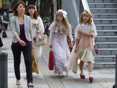 Cosplayers on their way to Yoyogi Park...
