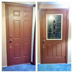Before And After Pictures Of A Front Door Remodel The Zabitat Way For This Project