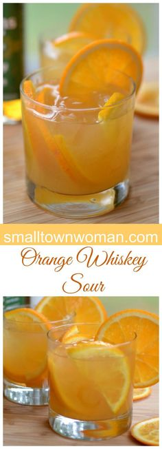 These Orange Whiskey Sours can be put together in about five minutes flat. That makes them perfect for that last minute cocktail hour.