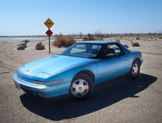 Buick Reatta at the Salton Sea, California. (Junker at a ghost town).