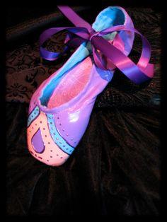 Sugar Plum Fairy Ballet Hand Painted Pointe Shoes by Lauri Jon Studio City (TM)