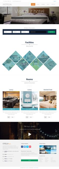 Hotelia is Premium Responsive HTML5 Hotel Template. Retina Ready. Video Background. Parallax Scrolling. Bootstrap Framework. http://www.responsivemiracle.com/cms/hotelia-premium-responsive-hotel-html5-themplate/