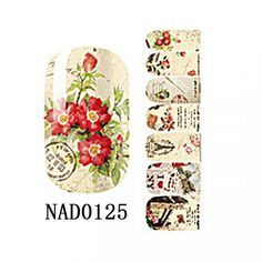 1 Sheet Dazzling Popular Fashion New Nail Art Sticker Manicure Decor Sunproof Tools Floral DIY Color Type NAD0125 *** See this great product.