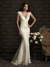 v neck lace mermaid wedding dress - Google Search