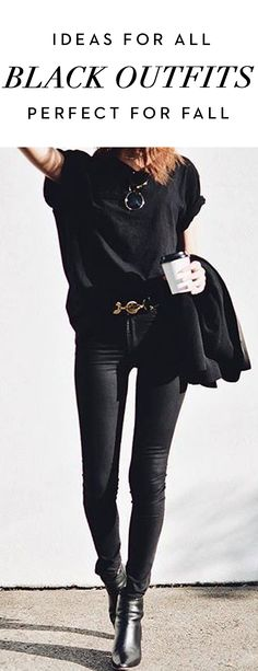 Ideas For All Black Outfits Perfect For Fall
