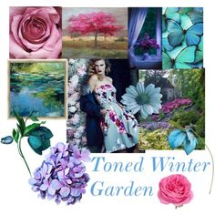 Garden Inspirations - Toned Winter by prettyyourworld on Polyvore featuring art