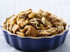 #glutenfree Apple Pie Chex Mix. Treat guests to this apple pie mix of Chex cereals.