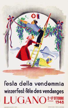 Festa della vendemmia - Winzerfest - fête des vendanges | Lugano | Ticino - Tessin | 1948