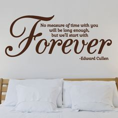 Forever... Wall Stickers from StickerStudio™. Thousands of designs available from thestickerstuio.com.