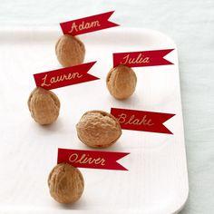 marque-place en noix faciles à faire en automne