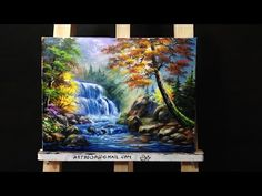 Mystical Moon Step by Step Acrylic Painting on Canvas for Beginners - YouTube