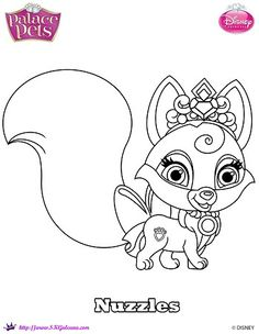 Disney Princess Palace Pet Coloring page of Nuzzles | SKGaleana