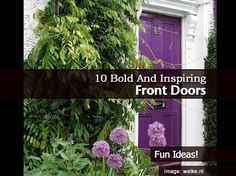 10 Bold and Inspiring Front Doors
