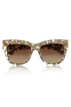 25c7ed4af99 Dolce Gabbana  Gold Leaf  55mm Cat Eye Sunglasses available at  Nordstrom