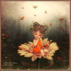 Fantasy Images, Fantasy Art, Bear Halloween, Forest Flowers, Elves And Fairies, Little Designs, Fairy Art, Cute Little Girls, Square Card