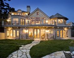 Beautiful...but every light on in the house? What an electric bill!