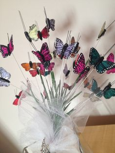 Multi Coloured Feather Butterfly Bouquet by FaerieWishesBoutique, £24.95