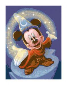 Magic Mickey Mouse PDF Cross-Stitch Pattern