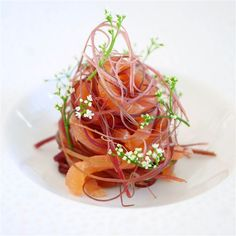 ing smoked salmon, pickled red Mitsuba stem and Mitsuba flowers(green) by -- - - - - - - - - - - -- Share your creations Best Appetizers, Appetizer Recipes, Food Decoration, Molecular Gastronomy, Smoked Salmon, Savoury Dishes, Food Plating, Plating Ideas, Food Presentation