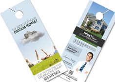 Real Estate Door Hanger Pinterest Real Estate Estate Agents And - Real estate door hanger templates