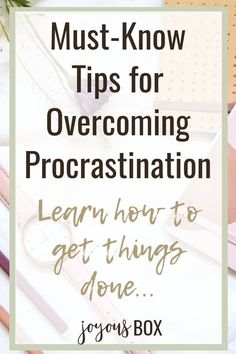Chances are if you're reading this, you're probably procrastinating something in your life. You can learn how to manage your procrastination tendencies to overcome procrastination and get things done. Let's learn how! #procrastination #tips #overcoming #motivation #anxiety #inspiration