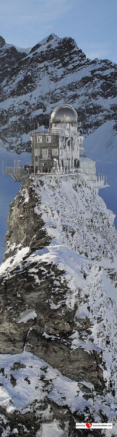 Jungfraujoch Top of Europe. Photo Jungfrau.ch, adapted to Pinterest by iLoveSwissMade