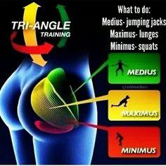 Butt workout: Medius. Maximus. Minimus