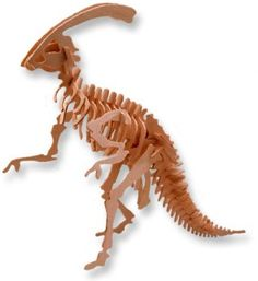 3-D Wooden Puzzle - Small Parasaurolophus -Affordable Gift for your Little One! Item #DCHI-WPZ-J003