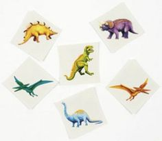Cool Dinosaur Tattoos : Fun to wear! Include these prehistoric dinosaur tattoos in goody bags at your next birthday party or sleepover. Easy to apply and remove. Make A Dinosaur, Dinosaur Train, The Good Dinosaur, Dinosaur Toys, Girl Dinosaur, Dinosaur Party Supplies, Dinosaur Birthday Party, 3rd Birthday, Birthday Ideas