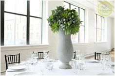 Tall Rustic Tablescapes for rental for your event at Loft 310!